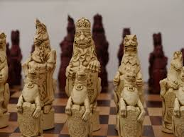 berkeley chess ltd royal beasts chess set ivory and red 0