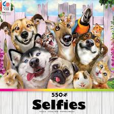 ceaco selfies in the backyard jigsaw puzzle 550 piece toys
