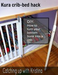 How To Convert Crib To Bed How To Convert The Lower Portion Of A Kura Bunk Bed Into A