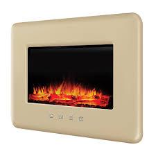 smeg retro cream remote control electric fire departments diy