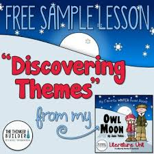themes for my story freebie discovering themes sle lesson from owl moon