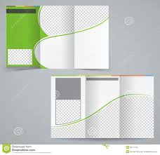 tri fold brochure template illustrator free tri fold business brochure template vector green stock vector