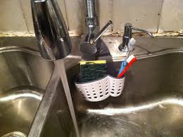Casabella Sink Sider Faucet Sponge Holder Review YouTube - Kitchen sink sponge holder