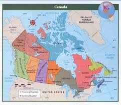 Canada Physical Map Map Of Canada With Capitals World Map