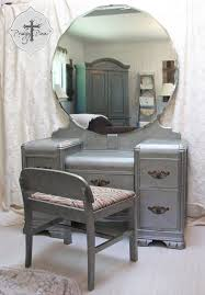 Vanity With Mirror For Sale Vintage Art Deco Waterfall Dressing Table Vanity With Bench Zinc