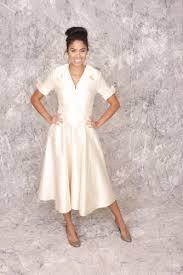 etta retro 1950 u0027s style off white eggshell color full skirt 3 4