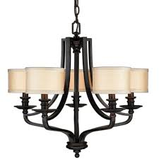 5 light bronze chandelier hton bay 5 light oil rubbed bronze hanging chandelier es0571obr