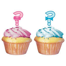 gender reveal cake toppers baby gender reveal cupcake toppers 12 per pack target