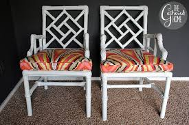 found vintage wicker chinese chippendale chairs