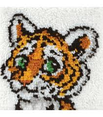 wonderart latch hook kit 12 x12 tiger cub joann