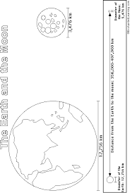 earth and moon printout coloring page enchantedlearning com