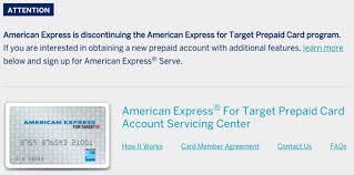 serve prepaid card amex is discontinuing target prepaid cards travel codex
