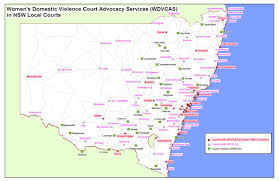 Dvc Map Map Of Wdvcas Services Legal Aid Nsw