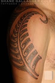shane tattoos maori silver fern