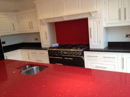 granite countertop kitchens worktops matt black microwave wall