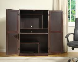 Computer Armoire Sauder by Furniture Dark Brown Computer Armoire With Six Dividers