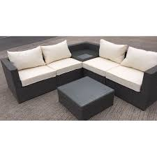 Rattan Table L Rattan L Shaped 5 Seater Sectional Sofa Set Rattan Furniture