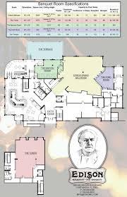 floor plans room details edison restaurant bar and catering center floor plans room details