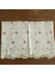 winston little rose embroidered grommet cafe curtains for kitchen