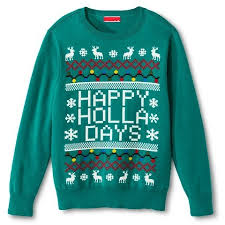 happy holla days sweater the ultimate