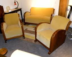 Wooden Sofa Set Designs With Price Original Restored French Art Deco Sofa Suite Settee With Fabulous