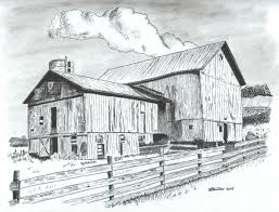 drawing old barns pencil drawing old barn the artwork of