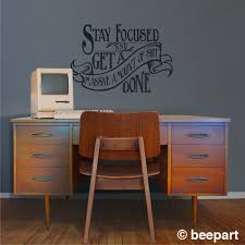 motivational quote wall decal office vinyl sticker art warning motivational quote wall decal office vinyl sticker art warning cuss word present victorian art nouveau get shit done free shipping