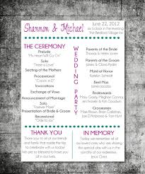 one page wedding program template items similar to printable wedding program playbill design on etsy