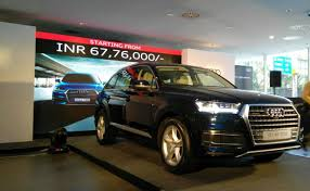 audi q7 starting price audi q7 petrol launched in india priced at rs 67 76 lakh ndtv