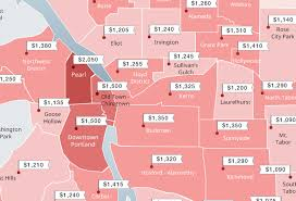 Rent Control Los Angeles Map by The Cheapest And Most Expensive Portland Neighborhoods To Rent