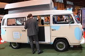 volkswagen minibus 2016 vw ice cream van at the cv show 2016 commercial vehicle dealer