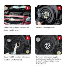 how to install led lights in car headlights 110w h7 led car headlight conversion kit plug play bulb low beam