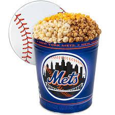 new york mets popcorn tin by gourmetgiftbaskets
