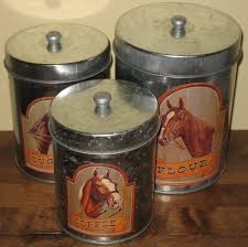 decorative canister sets kitchen horse country kitchen metal canister sets western style sugar