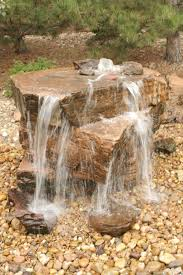 core drilled sandstone water feature pondless water features
