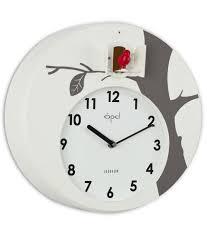 opal designer cuckoo wall clock white buy opal designer cuckoo