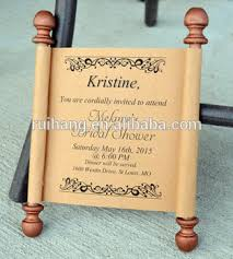 wedding scroll invitations custom personalized box wooden bridal shower wedding scroll