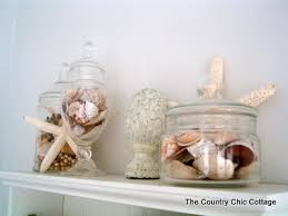 Shell Home Decor Beach Theme Home Decor For The Bathroom The Country Chic Cottage