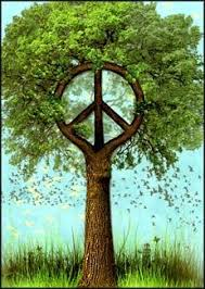 peaceful nature tree free greeting card peace sign 2 95