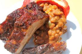 ribs baked beans and coach sposato u0027s bar b q sauce from oklahoma