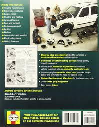 jeep liberty 2002 thru 2012 all gasoline models haynes repair