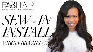 the best way to sew a hair weave sew in install virgin brazilian weave from fabhair youtube