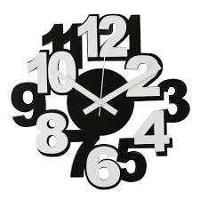 modern funky black u0026 white wall clock