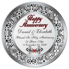 50th anniversary plate personalized 31 best 75th anniversary gift ideas images on