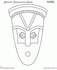 african mask coloring pages african tribal mask coloring pages