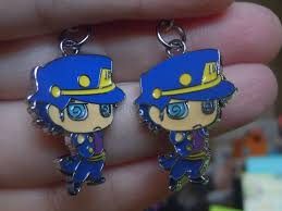 jojo s earrings jotaro jojo s adventure jotaro earrings anime jewelry