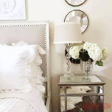 Small Mirrored Nightstand Nightstands 3 Drawer Mirrored Bedside Table Tall Mirrored