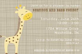 giraffe baby shower invites margusriga baby party stunning