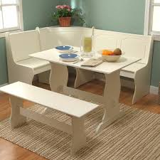 Contemporary White Kitchen Table With Bench Pretty Seat Wall To - Kitchen table bench