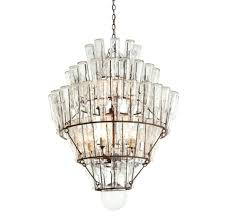 Pottery Barn Kids Chandelier by Round Wood Chandelier Hampton Bay Barcelona 6 Light Rustic Iron